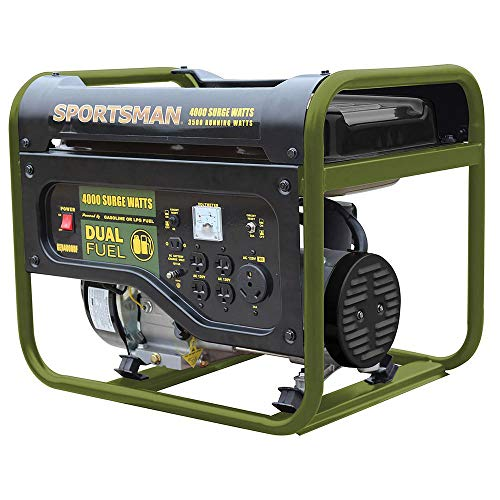 Sportsman 4,000/3,500-Watt Dual Fuel Powered Portable Generator, Runs on LPG or Regular Gasoline