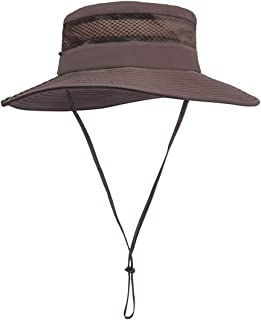 OMGWATLOW Sun Hat for Men/Women, Summer Outdoor UV Sun Protection Wide Brim Fishing Hat,Breathable and Packable Boonie Hat for Safari, Fishing,Hiking,Beach, Golf