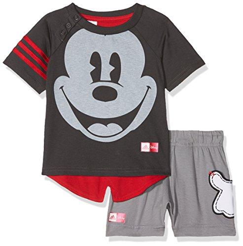 adidas Kinder Disney Mickey Maus Sommer-Set Trainingsanzug, Utiblk/Scarle, 80