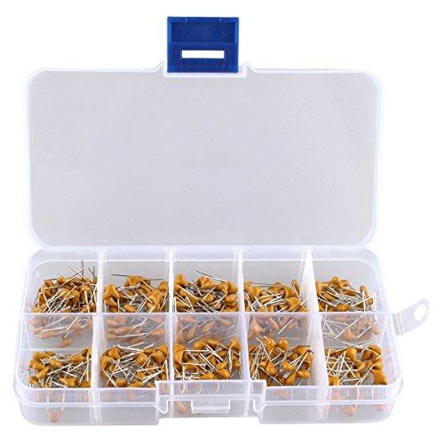 HALJIA 300Stück, 10Wert, 50V, 10 pF bis 100nF Mehrschichtiges Keramik-Kondensator Sortiment-Kit