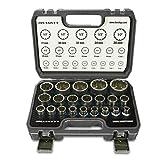 HASKYY - Lot de 21 clés à douille multidents avec profil 12et 6pans, 8-36mm, XZN Torx