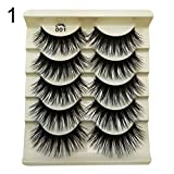 Acamifashion Fashion Colored Natural False Eyelashes Blue False Eyelashes Long Natural Lashes Extension for Stage 1#
