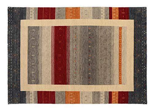 AKALI NETS handgewebter Schurwoll Teppich in multicolor, Größe: 70x140 cm