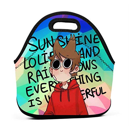 Shichangwei Neoprene Lunch Boxes Red_Tord Lunch Tote Bag for Women Men Insulated Kids School Reusable Large
