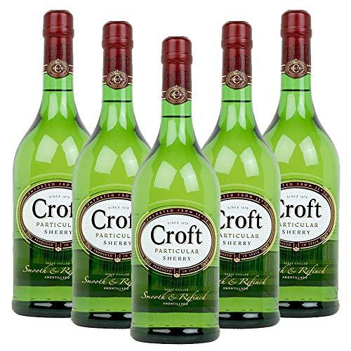 Vino amontillado Croft Particular de 1L - D.O. Jerez de la Frontera - Bodegas Gonzalez Byass (Pack de 5 botellas)