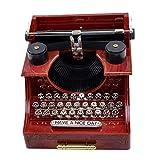 BGFBHTY Casa Retro Vintage Máquina de Escribir Máquina de Música para el Hogar Habitación Oficina Decoración Mecánica Kids Retro Caja de Música