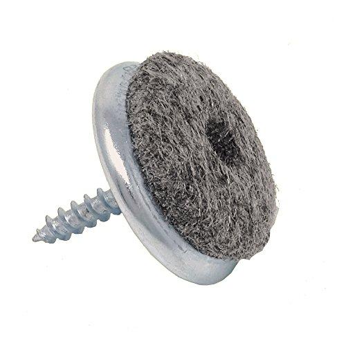 SBS Filzgleiter mit Schraube | ø 24 mm | 100 Stück | Eisen vernickelt Möbel-Gleiter