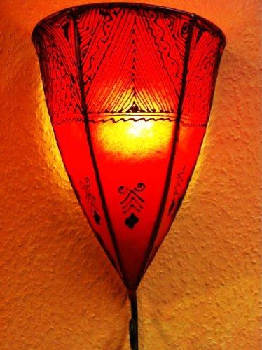 Orientalische Wandlampe Maya Rot