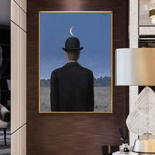 wZUN Réplicas de Obras de Arte clásicas surrealistas, Pinturas en Lienzo, Carteles y murales, Pinturas para decoración de Salas de Estar 60X80 Sin Marco
