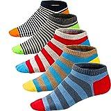 Ueither Lustigen Herren Socken Bunte Gemusterte Kurze Baumwolle Socken Sneakersocken Sportsocken (39-46, Farbe 2)