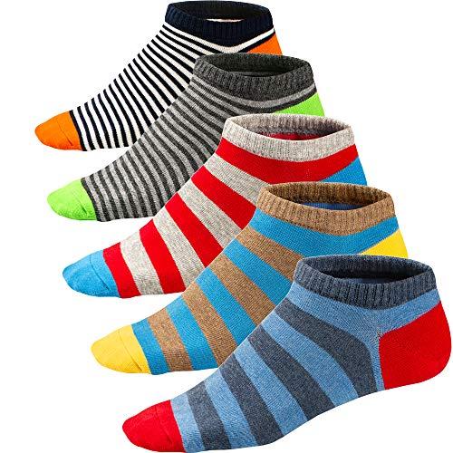 Ueither Calcetines Estampados Hombre Casuales Divertidos Calcetines Corto de Colores con Algodón Fino (39-46, Color 2)