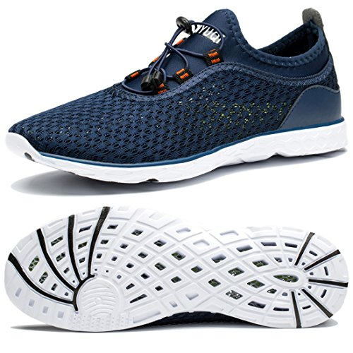 Water Sports Shoes for Mens Lightweight Outdoor Hiking River Quick Dry Aqua Shoes Beach Diving Boating Water Shoes for Men Navy 13.5 M US