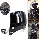 GUAIMI Windscreen 5' Round-Headlight Windshield 39-41mm Fork Mount Compatible with Harley Sportster XL 883 1200 XL48 72 Custom Cruisers