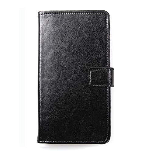 Dingshengk Schwarz Premium Leder Tasche Schutz Hulle Handy Case Wallet Cover Etui Für Siswoo R8 Monster 5.5