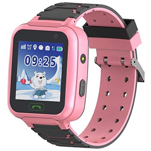 "YENISEY Rastreador de GPS para niños Smart Watch a Prueba de Agua para niños Smartwatches IP67 A Prueba de Agua 1.4"" Llamada de Pantalla Chat de Voz Podómetro Reloj Despertador para niñas"