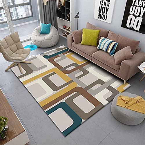 alfombra para silla gaming alfombras de habitacion grande Alfombrillas rectangulares para el hogar, para sala de estar, antideslizantes y resistentes al desgaste decoracion comedor 140X200CM 4ft 7.1'X