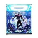 HotToys HT 1/6 Die-cast Alloy Avengers 3 MK50 Iron Man Model Display Box LED Light Frame Handmade PVC Figure Model GK Display Box Dust Cover (Color : Background+up+Down Light, Size : Regular)