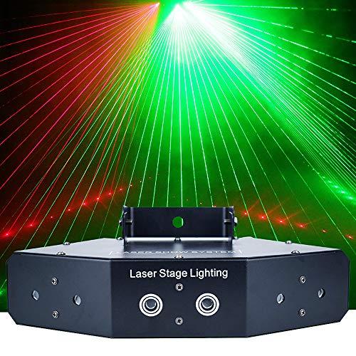 ZH-VBC Discolicht Partylicht, 6-Augen Rot Grün Blau Led Bühnenlicht, 50W RGB DMX512 Vollfarb-Scan-Lüfter, für Dance Bar House Show Dekoration Urlaub KTV
