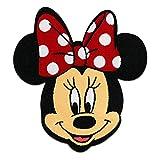 Toppe termoadesive - Minnie Mouse Disney comico bambini - rosso - 6,5x7,5cm - Patch Toppa ricamate Applicazioni Ricamata da cucire adesive