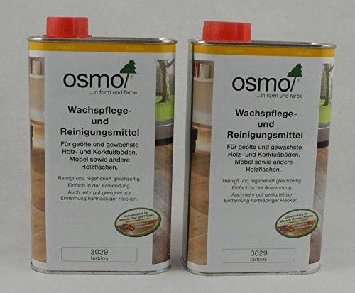 Osmo Spar-Set 2x Wachspflege & Reinigunsmittel farblos 1l