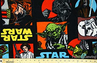 Star Wars Black Anti-Pill Polar Fleece - Plush Fabric Polyester 13 Oz 58-60