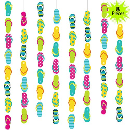 52 Feet Flip Flop Party String Summer Party Garland Flip Flop Hanging Banner Beach Party Garland for Summer Party Beach Party Slipper Theme Party Baby Shower Birthday Party