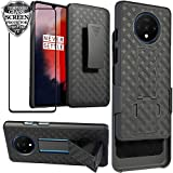 Ailiber OnePlus 7T Case with Screen Protector, One Plus7T Belt Clip Holster, Kickstand Holder Rugged Fullbody Shockproof Armor Slim Hard Protective OnePlus7T Accessories Cover for One Plus 7T - Black