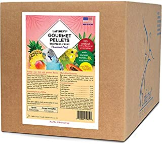 LAFEBER'S Premium Tropical Fruit Pellets Pet Bird Food, Made with Non-GMO and Human-Grade Ingredients, for Parakeets, 25 lbs