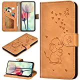 Robinsoni Custodia Compatibile con Samsung Galaxy A750 Case Portafoglio Cover Dumbo Stampato Libro Pelle PU Antiurto Case Wallet Taccuino Cover Libretto Cartone Animato Case Folio Flip Cover Zenzero