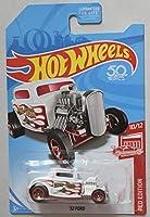 Hot Wheels レッドエディション 10/12 ホワイト レッドフレーム '32 フォード 50周年記念カード