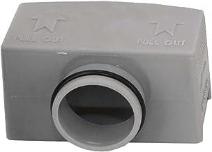 Vilstein Accessoires voor douchegoten sifon adapter Demotagesleutel afvoerrooster sifon 4,0 x 5,0 x 8,0 grijs