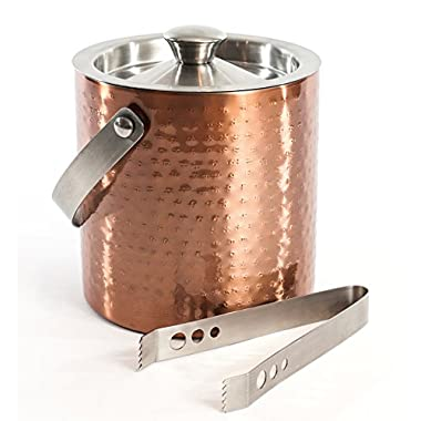 Bel-Air 6010 Double Wall Ice Bucket and tong, Copper