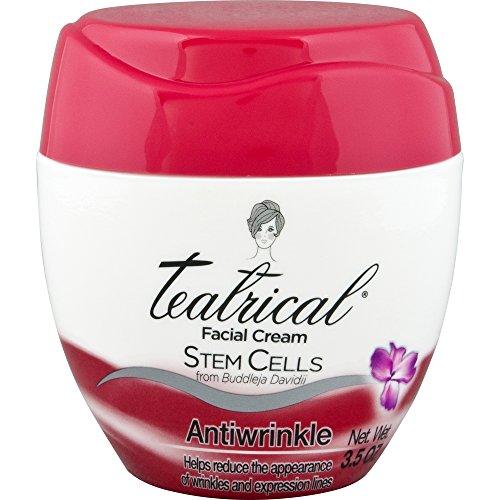 TEATRICAL Anti-Wrinkle Cream with Buddleja Davidii Stem Cells, Floral, 3.5 Ounces