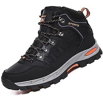 VTASQ Chaussures de Randonnée Antidérapantes pour Hommes Femmes Bottes en Plein Air Trekking Promenades Montantes Imperméable Sports Sneakers pour Noir 42EU
