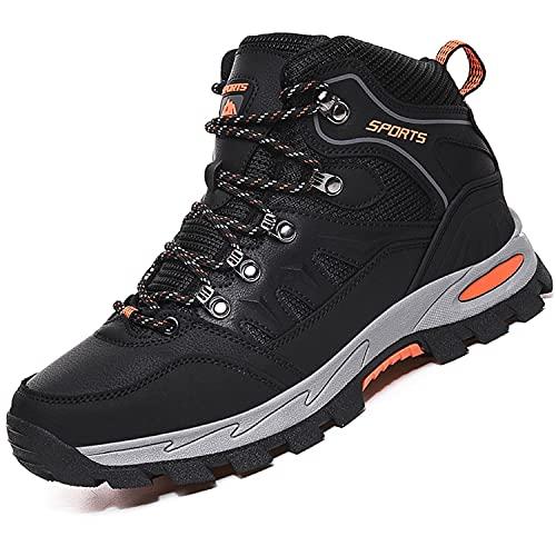 VTASQ Chaussures de Randonnée Antidérapantes pour Hommes Femmes Bottes en Plein Air Trekking Promenades Montantes Imperméable Sports Sneakers pour Noir 40EU