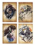 Wall Art Overwatch Characters Bastion Ana D.va Reinhardt Poster Prints Set of 4 Size A4 (21cm x 29cm) Unframed GREAT GIFT