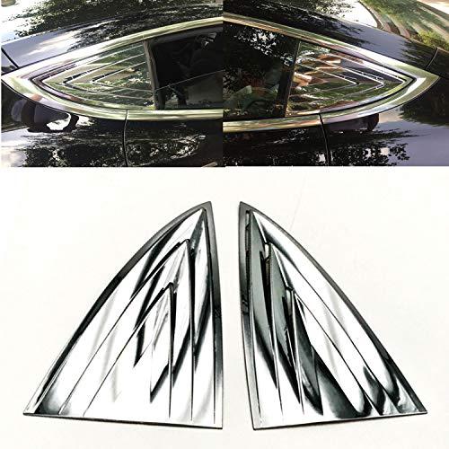 JOJOMARK for Tesla Model 3 Accessories Window Cover Protector Anti-Theft Rear Quarter Panel Glass Window Shutters