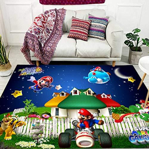 GOOCO La Leyenda de Zelda Super Mario Smash Bros Kirby Alfombra Muy Suave para decoración artística de poliéster para Sala de Estar, Dormitorio, Cocina, Dormitorio para niños