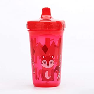MUMMAMIA Baby Leak Proof Forest Friends Hard Spout Sipper Cup (RED, 10 Oz)