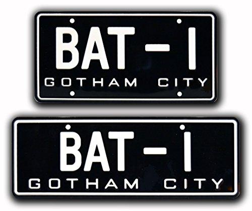 Batman | '66 Batmobile | BAT-1 | Metal Stamped License Plates
