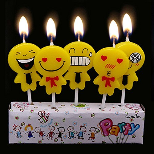 Ecape Birthday Candle Boxes Consist Of 5 Someting Like Pegman Candles For Kids Cake Decoration