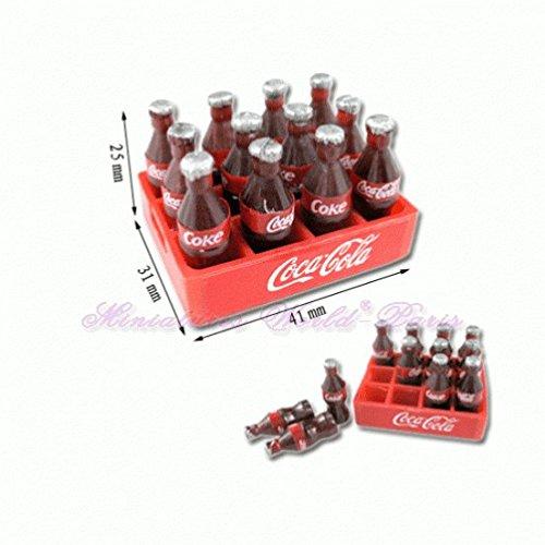 Miniatures World - Caja de 12 Botellas de gaseosa de poliresina para Decoraciones en Miniatura y Casas de muñecas en Escala 1:12