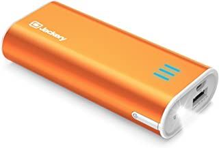 Jackery Portable Travel Charger Bar 6000mAh Power Outdoors Pocket-Sized Ultra Compact External Battery Power Bank Fast Charging Speed with Emergency Flashlight for iPhone, Samsung and Others - Orange