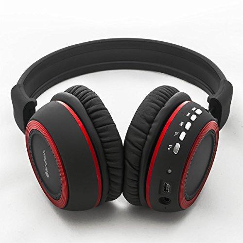 sinobeats ABC-BB-q inalámbrico Bluetooth Auriculares con Control de Gestos, micrófono Integrado, FM Radio, MP3 Reproductor con Micro SD Apoyo: Amazon.es: Electrónica