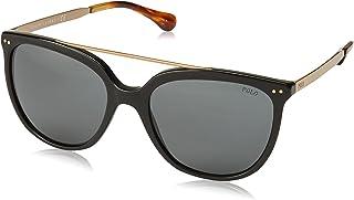 بولو نظارة شمسية كاجوال للنساء - رمادي