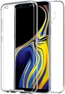 APOKIN Funda Doble Samsung Galaxy S8 Plus Silicona Transparente Delantera y Trasera
