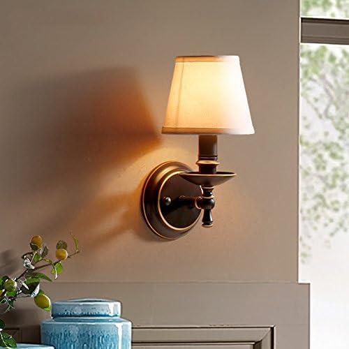 YXLZZO American Village Europe du Nord Chambre Salon Restaurant Lumières Allée Fer Entrée Corridor Simple Simple Tête Lampe Applique (Couleur    1)