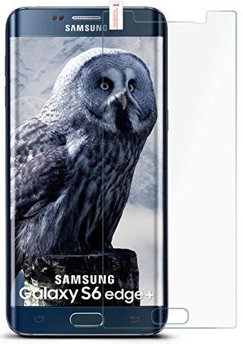 MoEx Pellicola in Vetro temperato HD Compatibile con Samsung Galaxy S6 Edge Plus   Pellicola Protettiva in Vetro antiproiettile AntiGraffio + Pellicola Protettiva in Vetro 9H 1x Pezzo