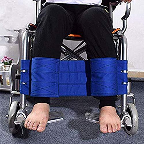 YAOBAO Rollstuhl Fußstütze Beinschlaufe Sicherheitsgurt Medizinische Gurte Sicherheitsgurt Sicherheit Fußstütze Beckengurt für Patienten, ältere Menschen & Senioren Zubehör (blau)