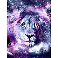 5Dダイヤモンド絵画ライオン刺繡動物5DDiyモザイク装飾家庭用手作りアートクラフト40x50cm